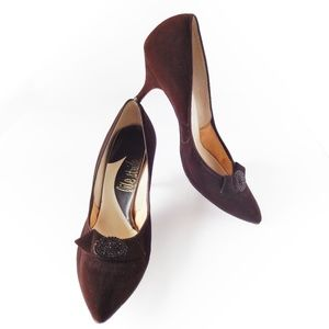 Life Stride Brown Suede Pumps